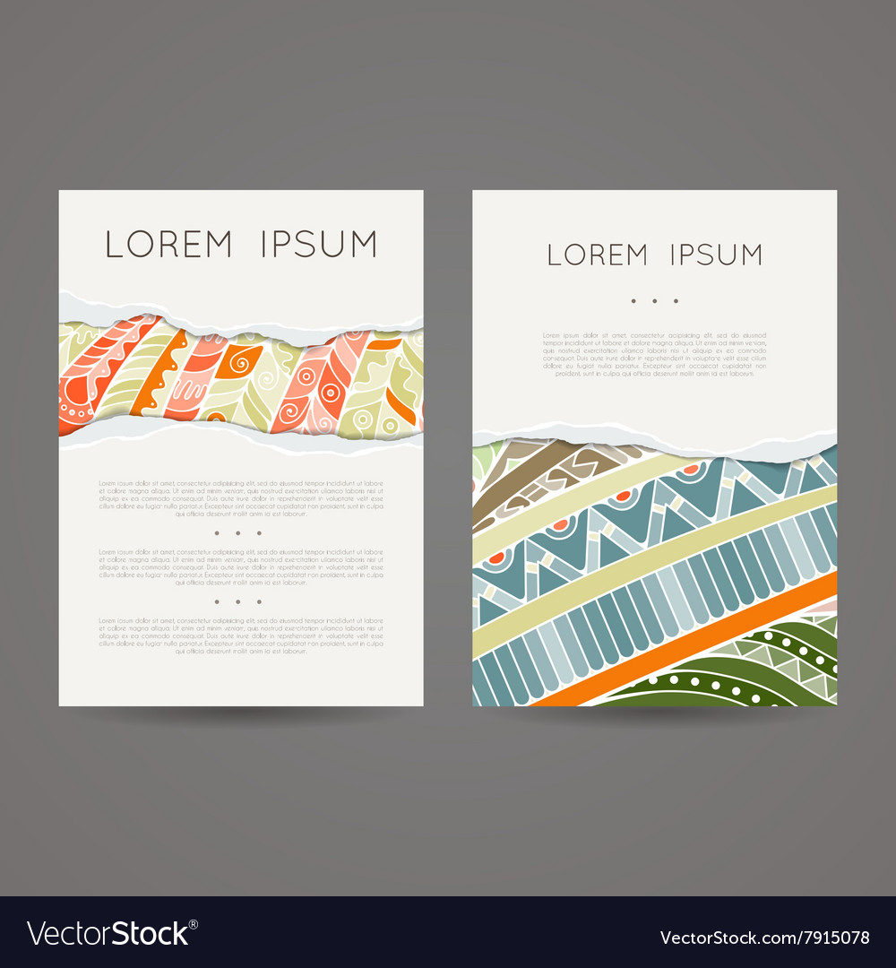Set Of Design Templates Brochures In Royalty Free Vector