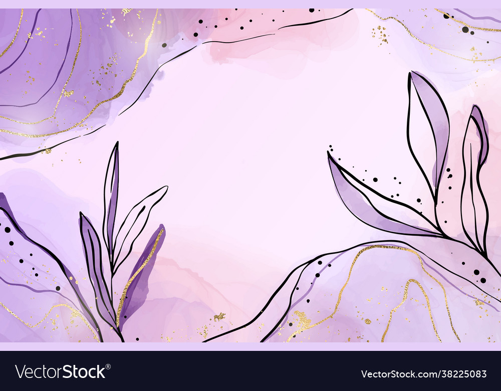 Abstract dusty violet liquid watercolor background