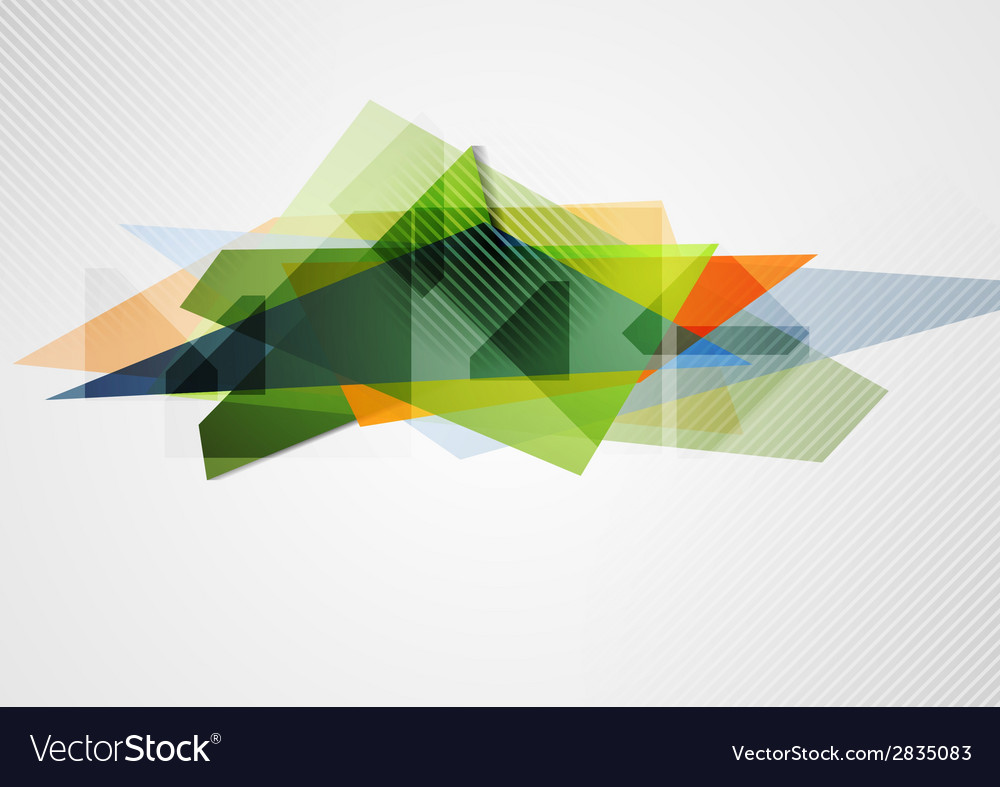 Abstract vibrant geometry shape