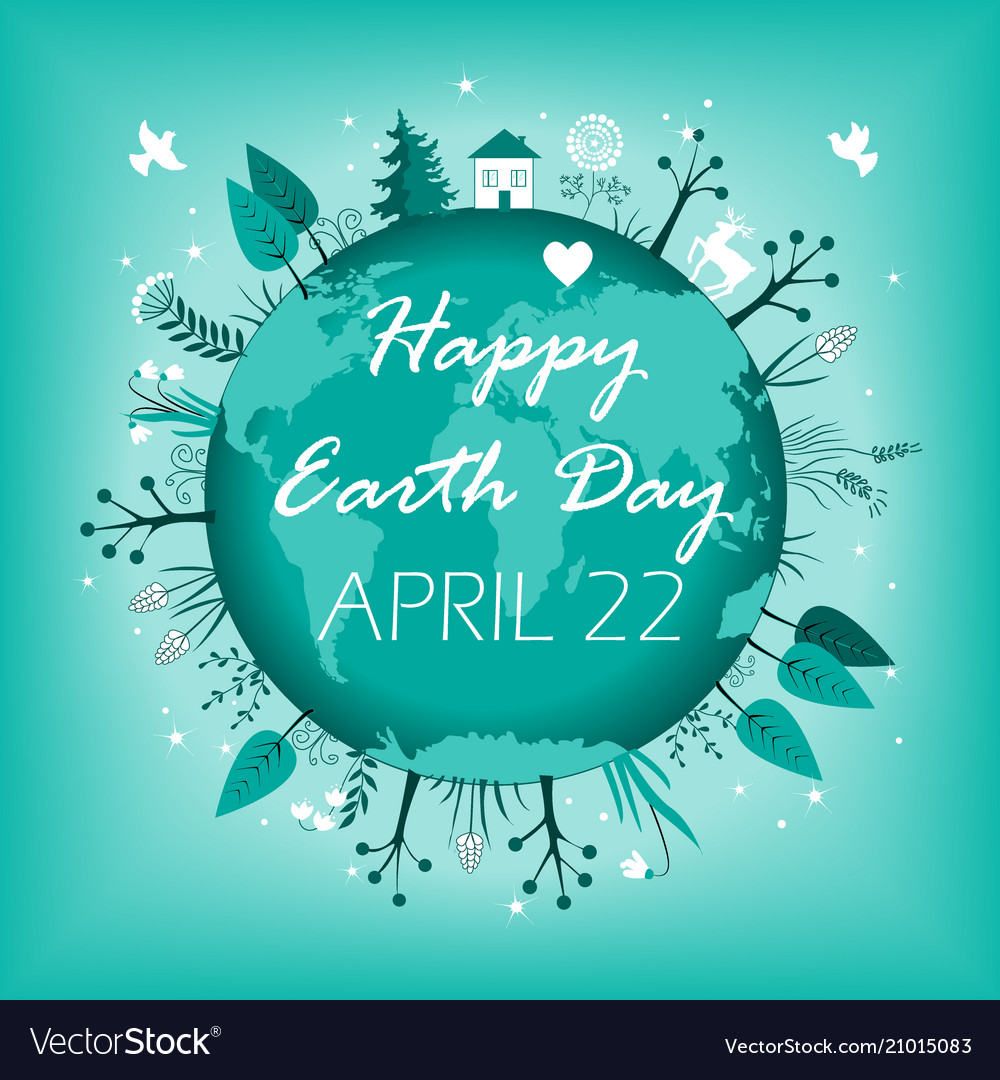 April 22 banner happy earth day card design