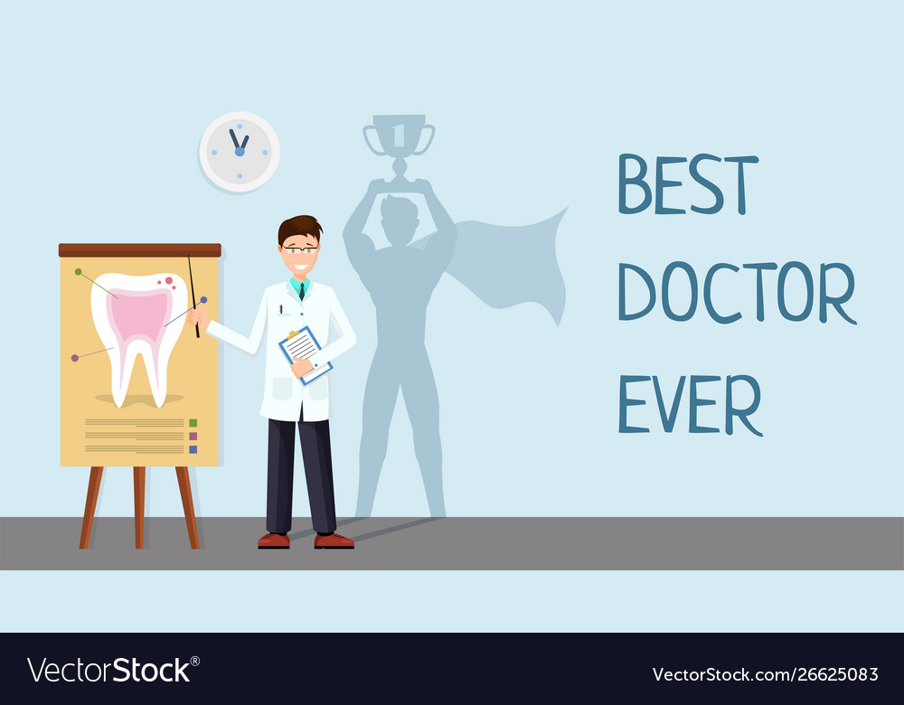 Best doctor ever banner template hospital