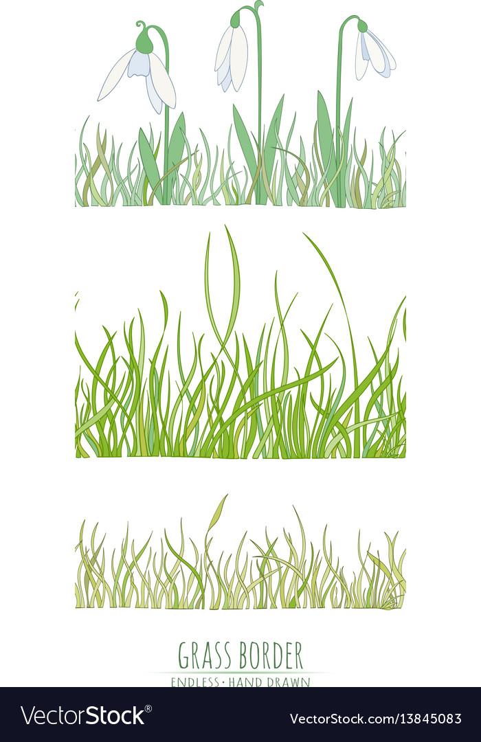 Grass natural border