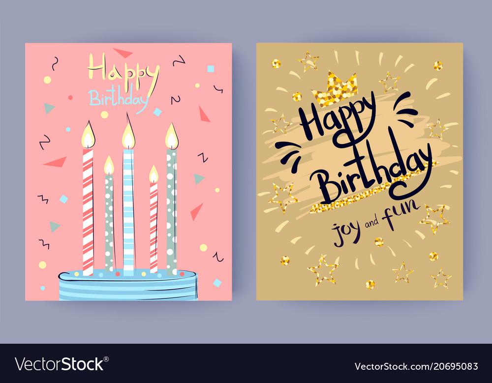 Happy birthday joy and fun congratulation poster