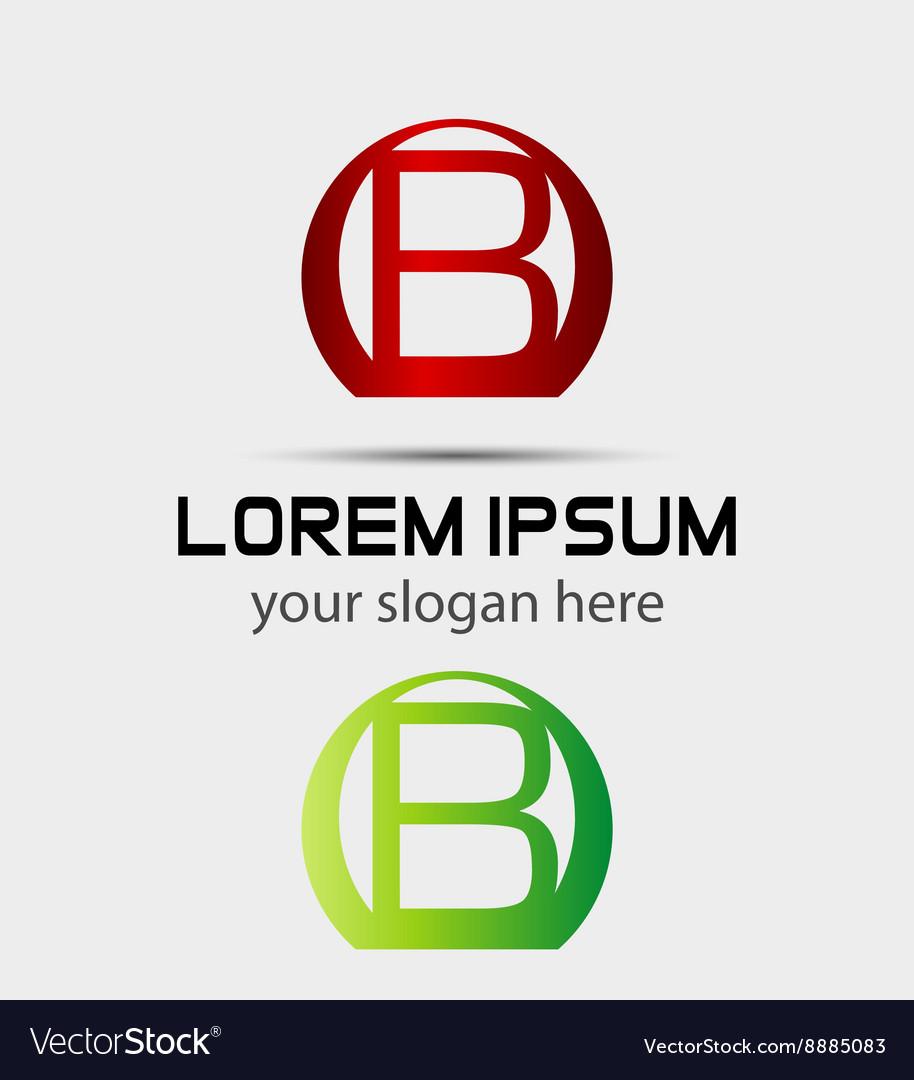 Letter B logo Creative concept icon
