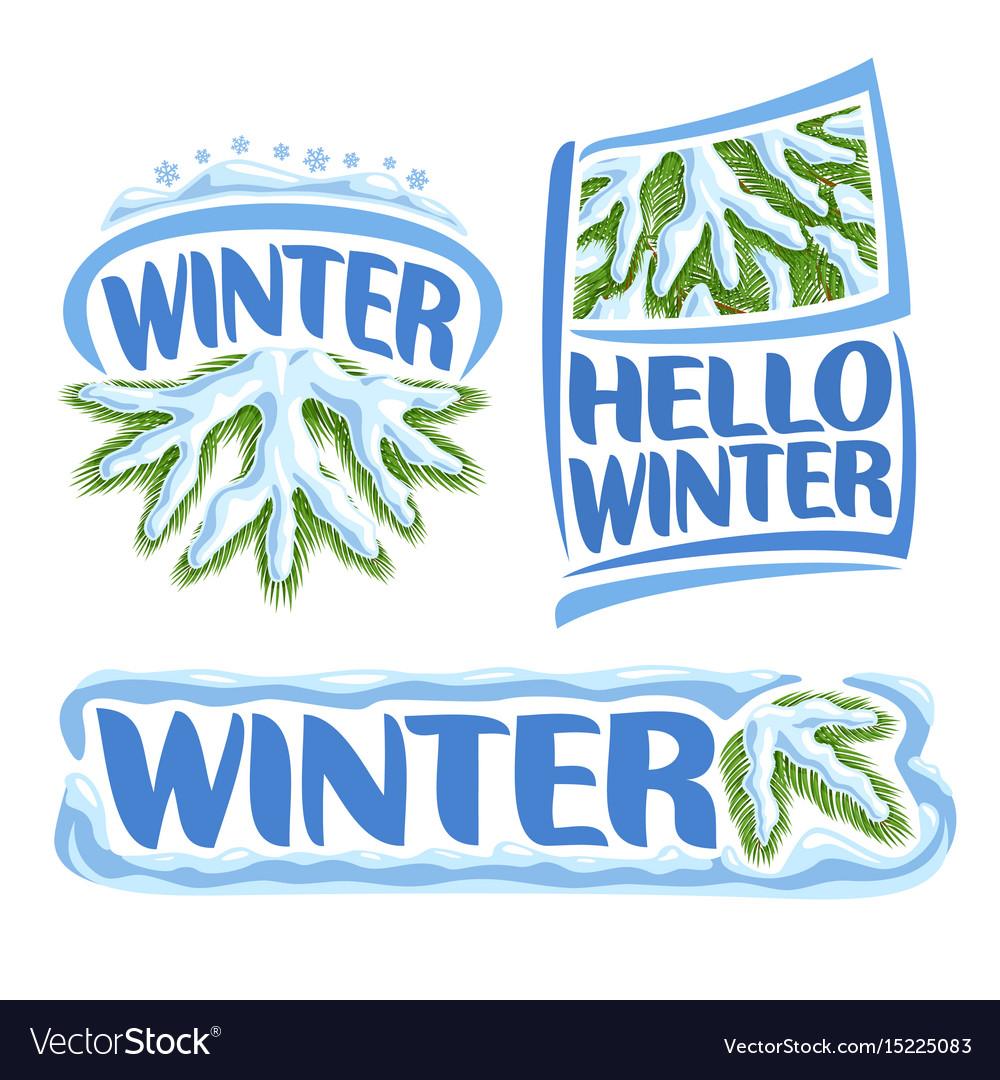 Logo winter vector image