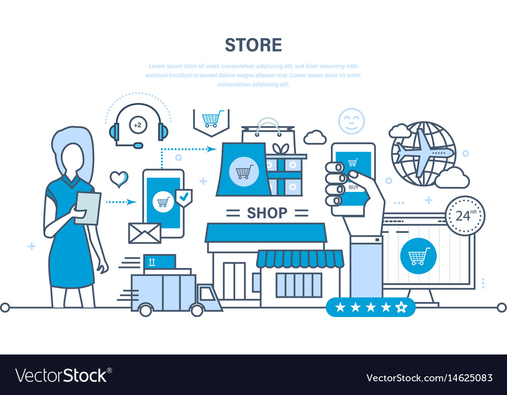 Store and online purchase delivery support