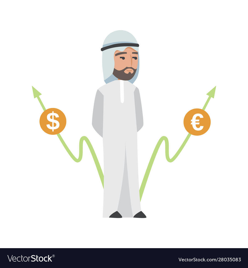 Successful arab man in white clothes
