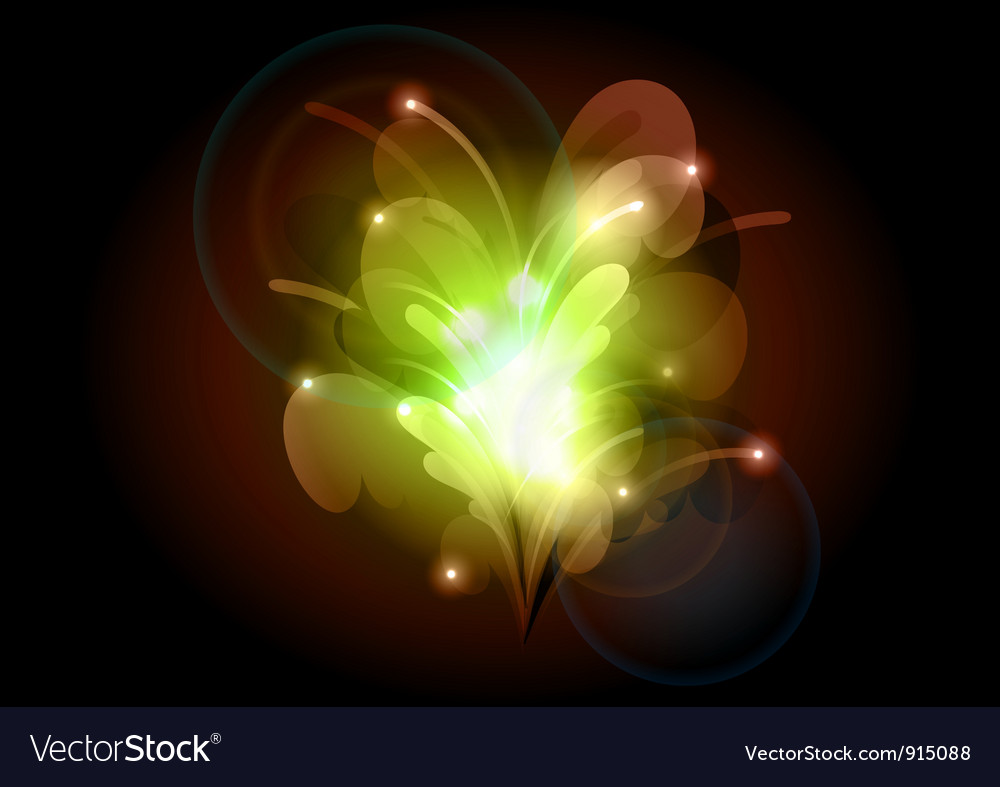 Abstract flower green vector image