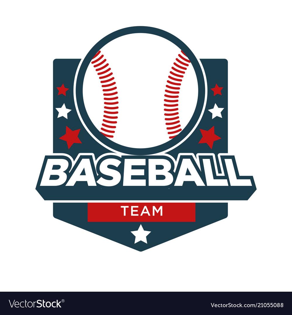 Baseball sport team badge icon