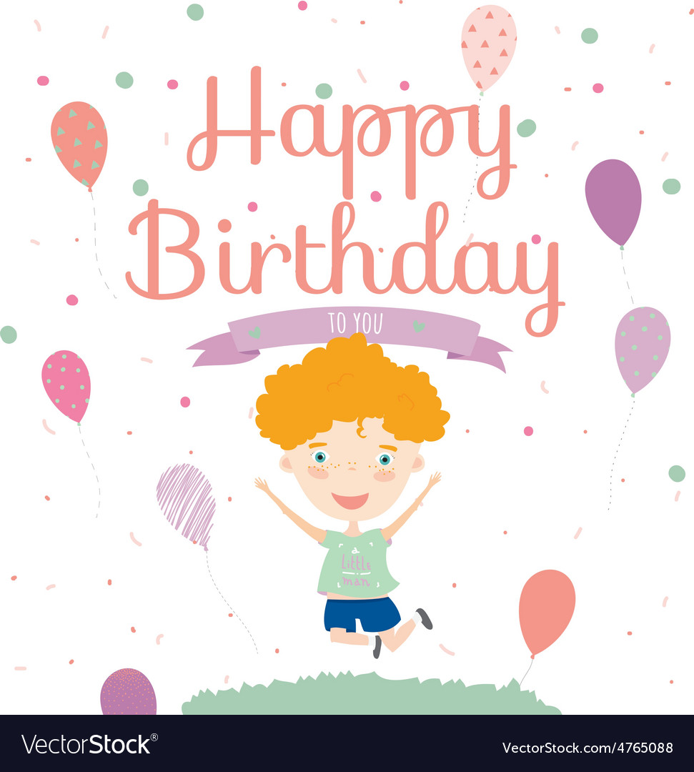 Birthday party invitation card with cute jumping vector image stopboris Images