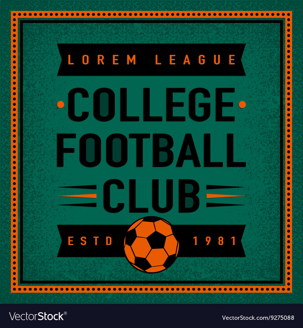 Color vintage and retro logo badge label college