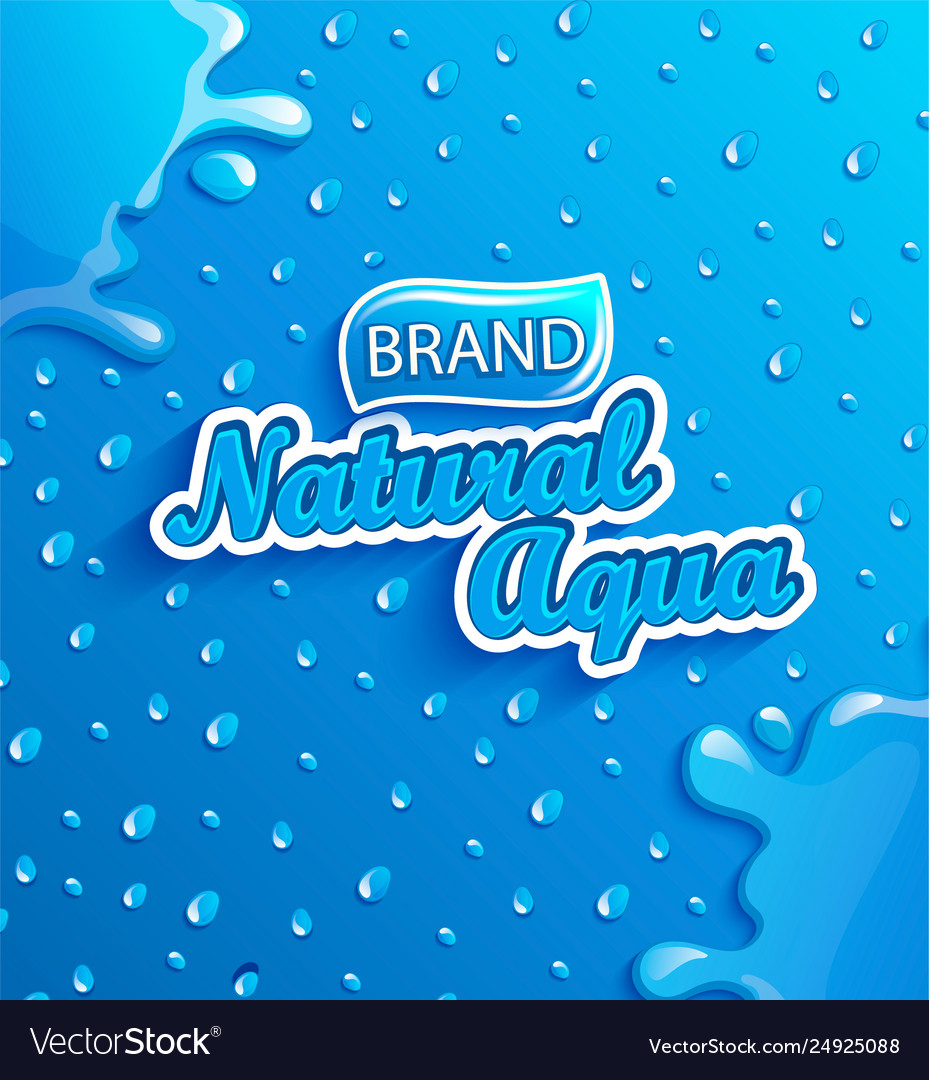 Fresh natural water banner with drops and splash