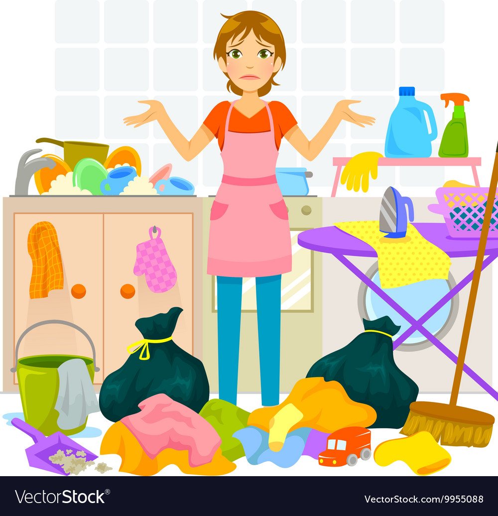 Messy House Royalty Free Vector Image