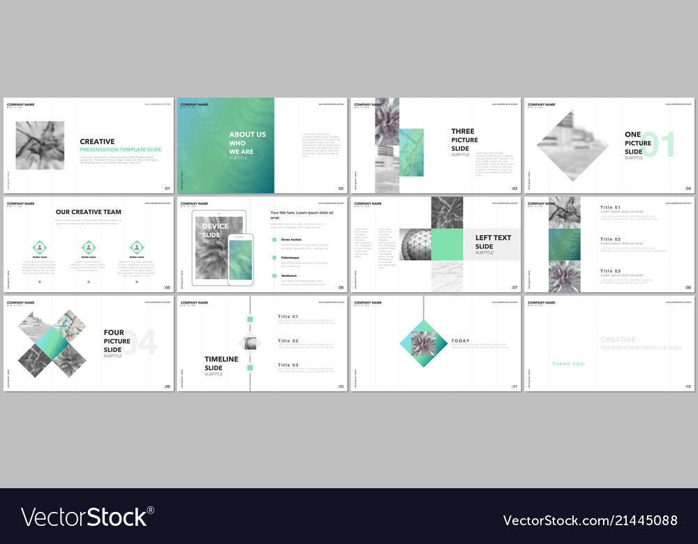 minimal presentations design portfolio royalty free vector