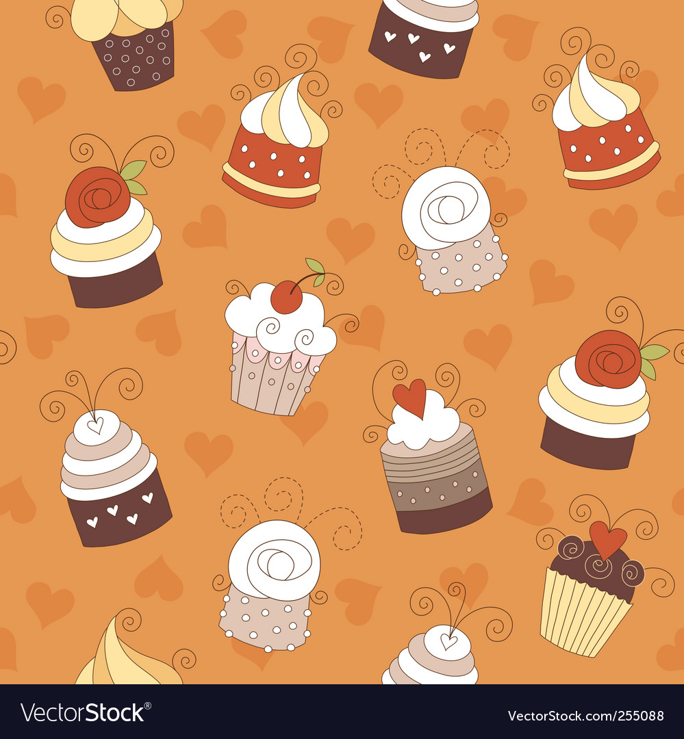 Seamless pattern with cute cup