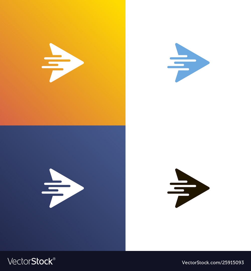 Arrow fast design logo arrows icon isolated