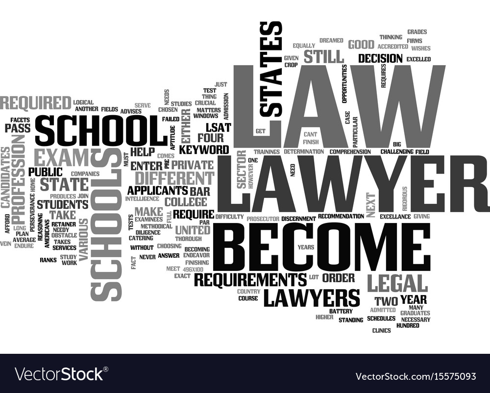 Become a lawyer text word cloud concept