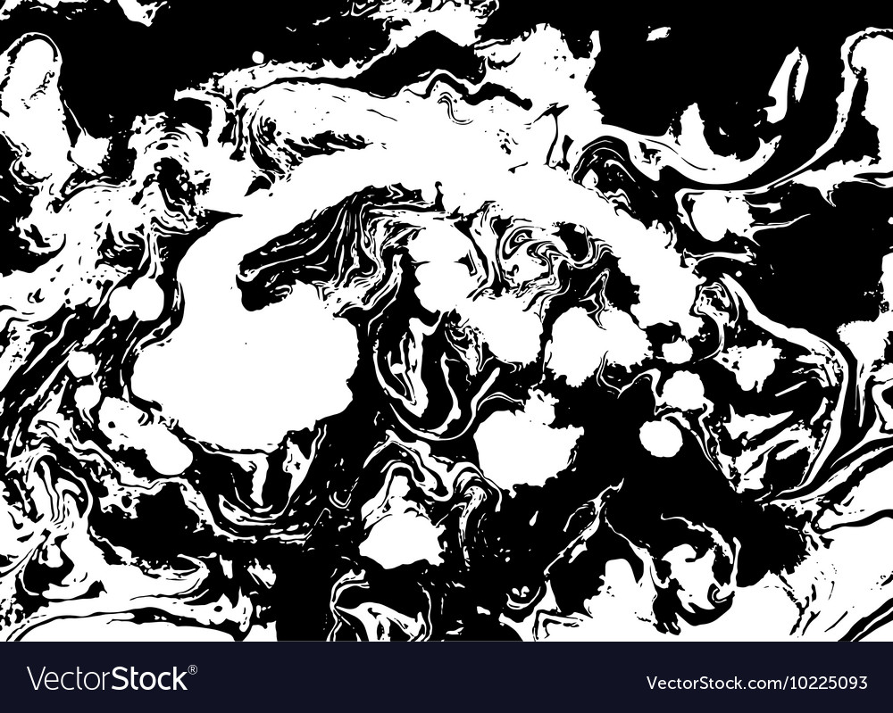 Black and white abstract background Liquid marble