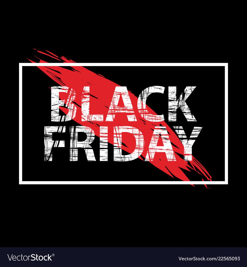 Black friday sale black tag advertising round