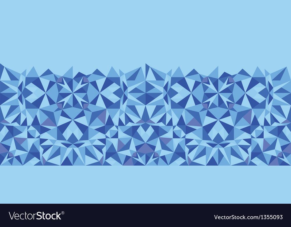 Blue triangle texture horizontal seamless pattern
