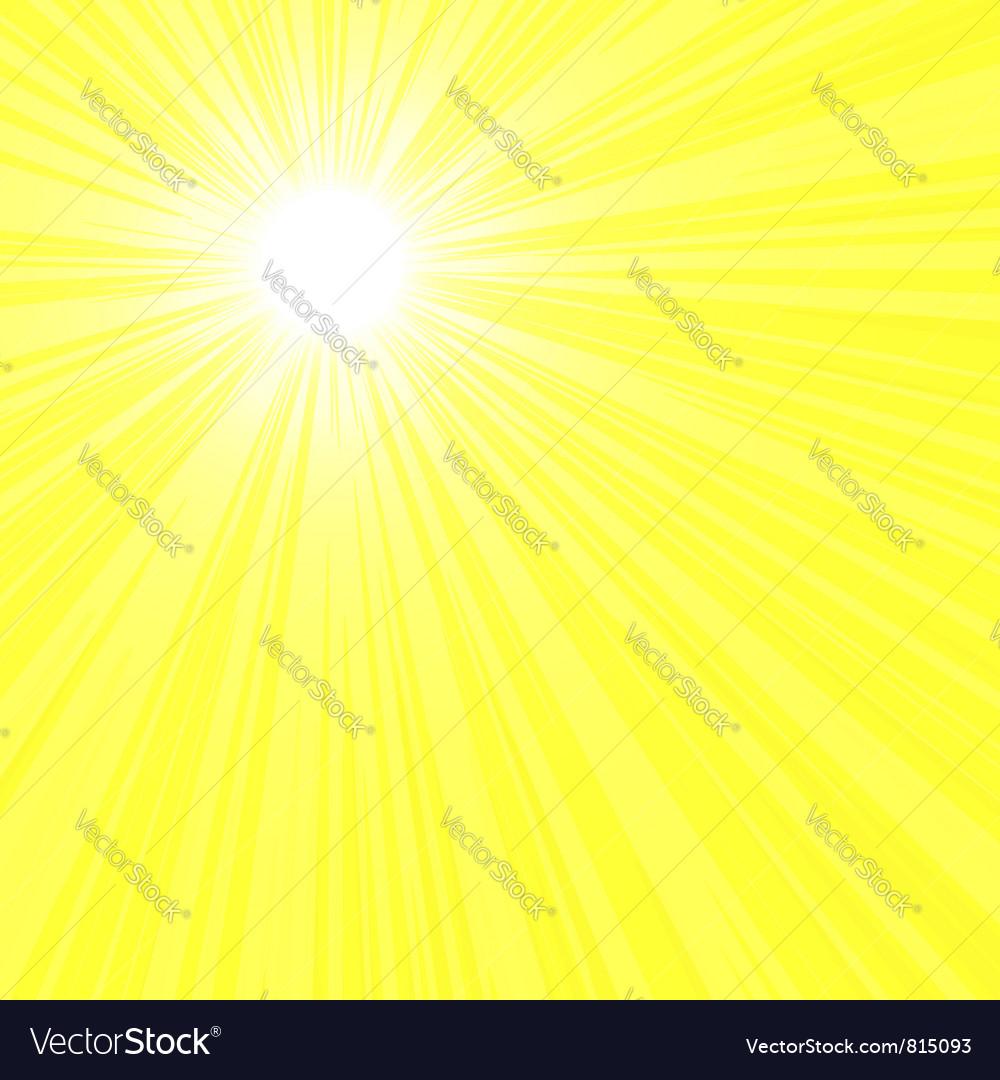 Bright sun rays vector image