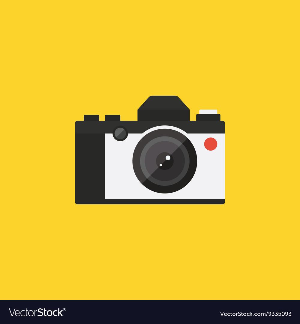 Camera retro vintage style flat design
