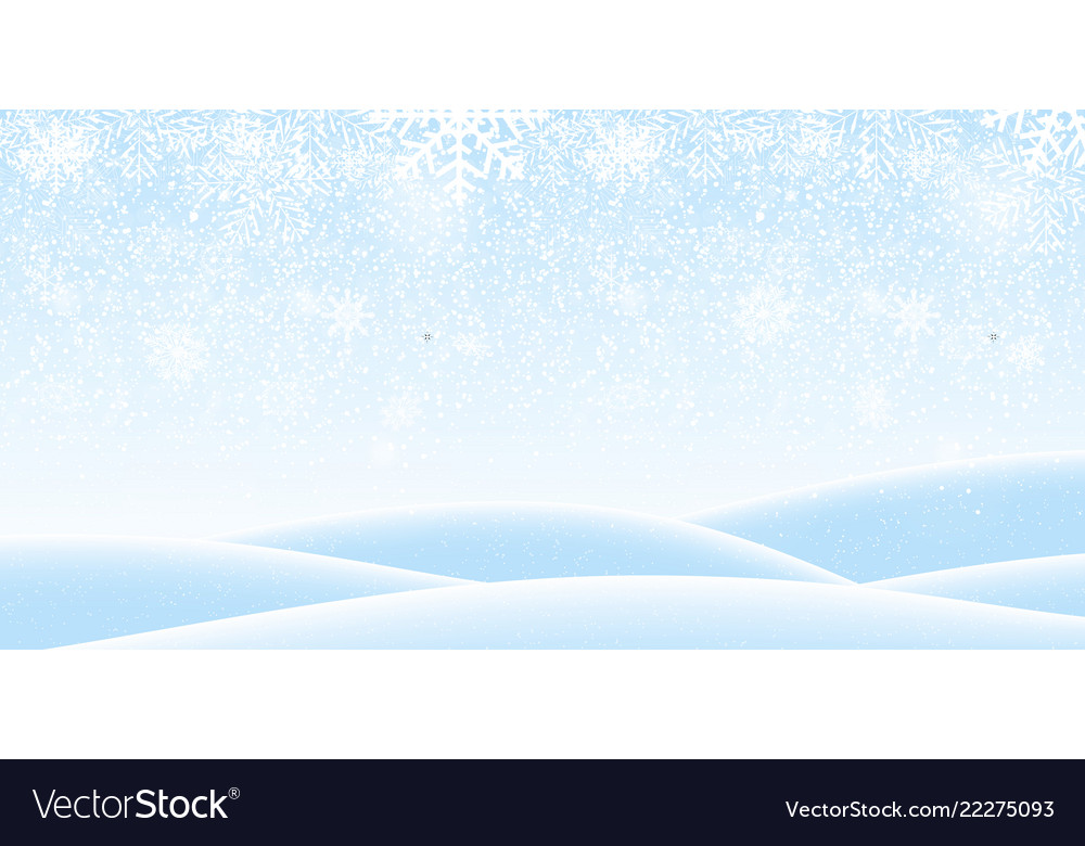 Colorful naturalistic winter background with