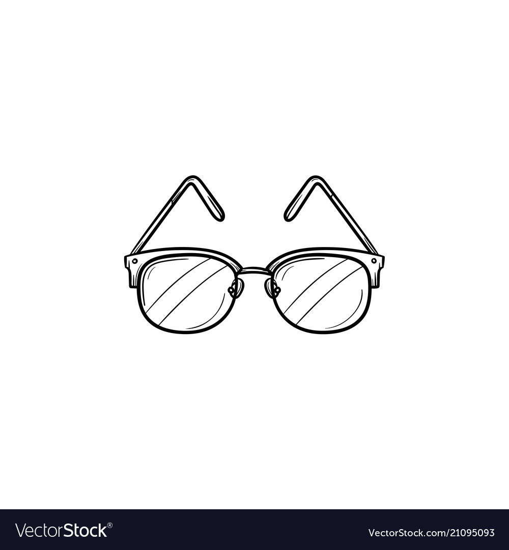Eyeglasses hand drawn outline doodle icon