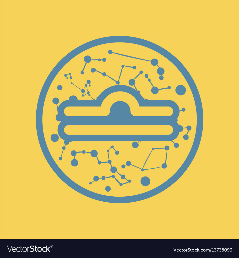 Flat Icon Zodiac Sign Libra Royalty Free Vector Image