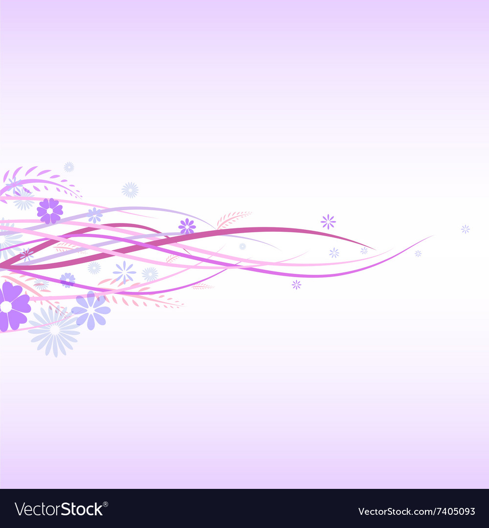 Flora graphic background 4 vector image
