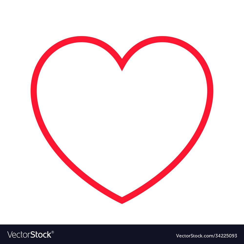 Heart shape line art