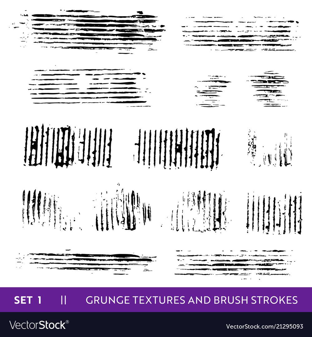 Ink brush strokes grunge paint splatters