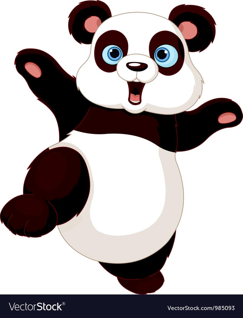 kung fu panda royalty free vector image - vectorstock
