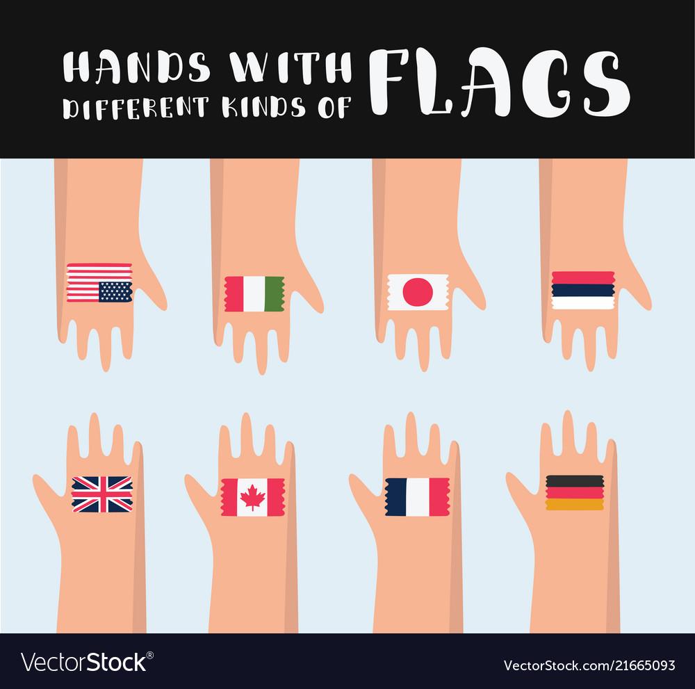 Set of various flag