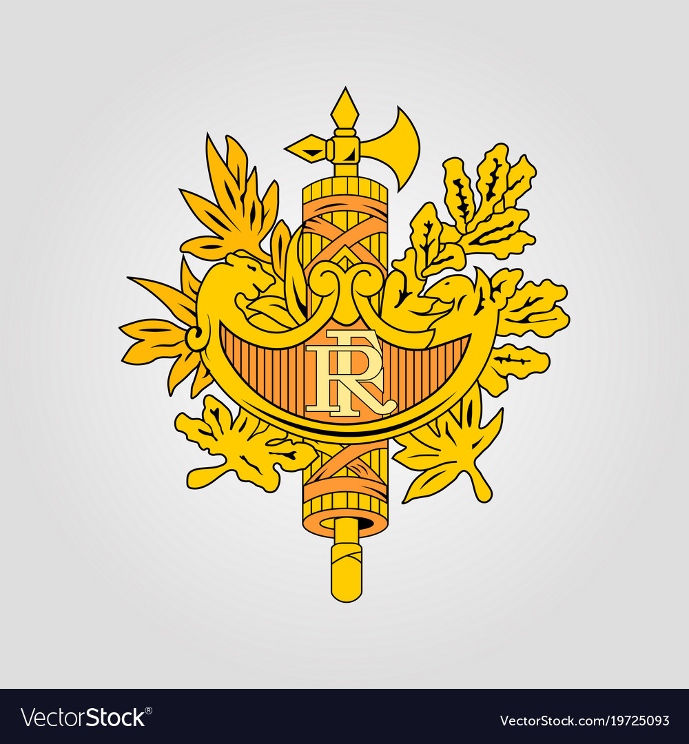 The coat of arms of france vector image