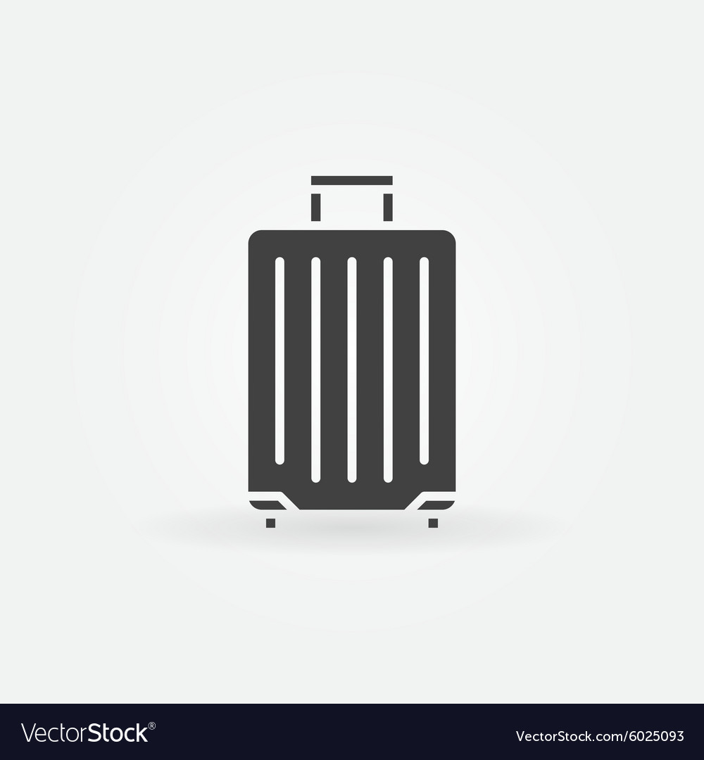 Traveling bag icon