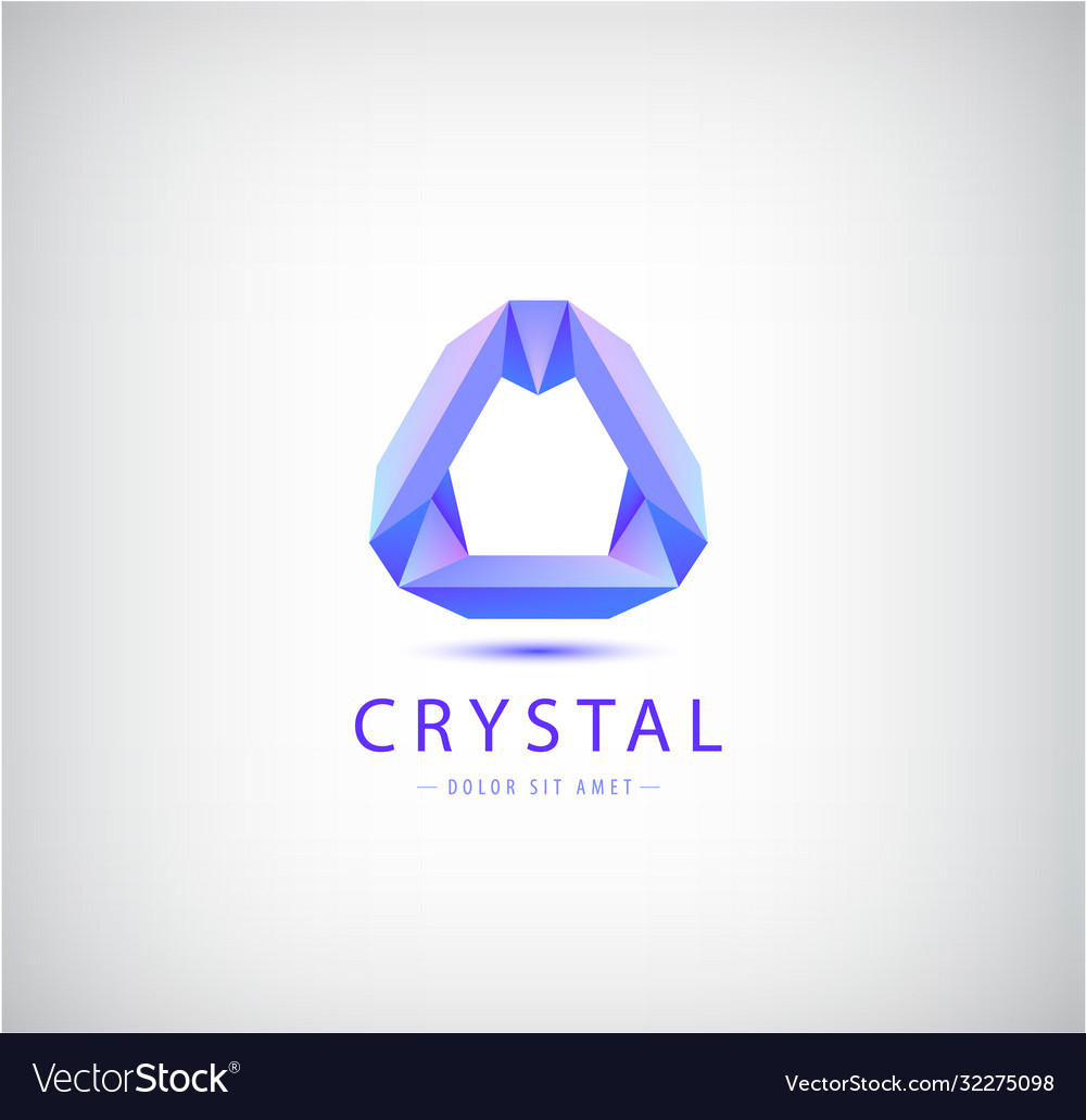 Abstract origamicrystal geometric shape