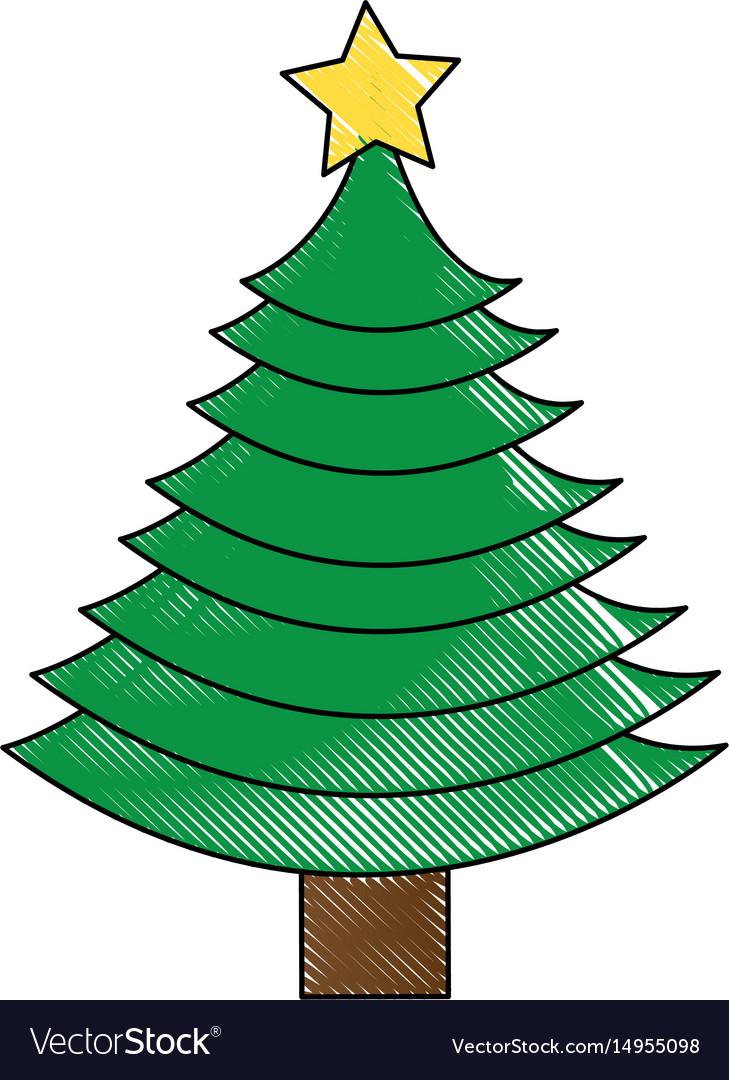 Christmas tree decorative icon