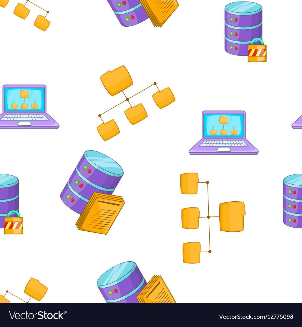 Computer setup pattern cartoon style vector image
