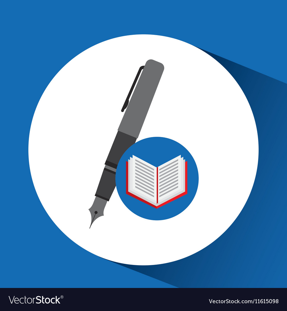 Concept school book pen