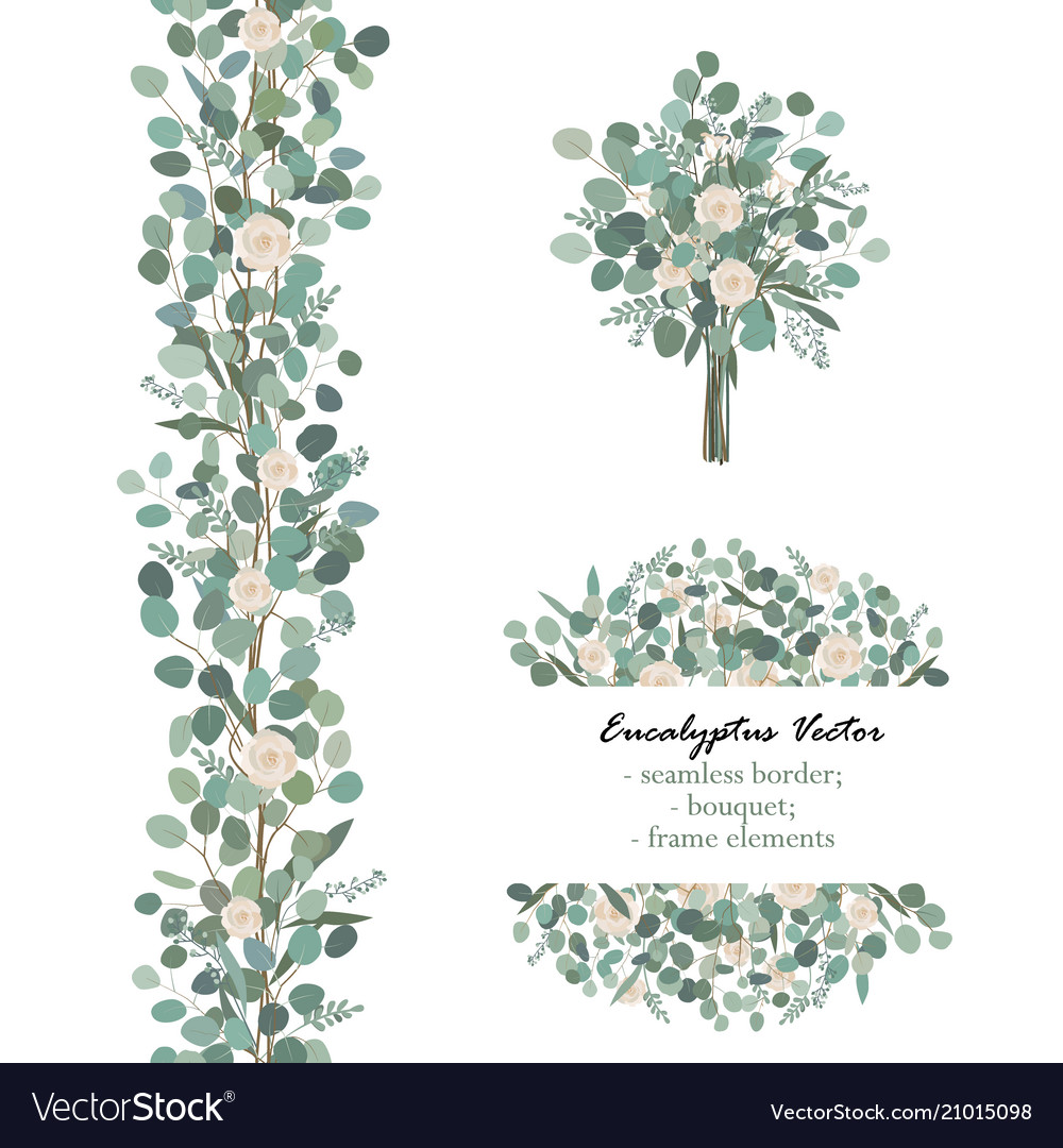 Design elements with white rose flowers and