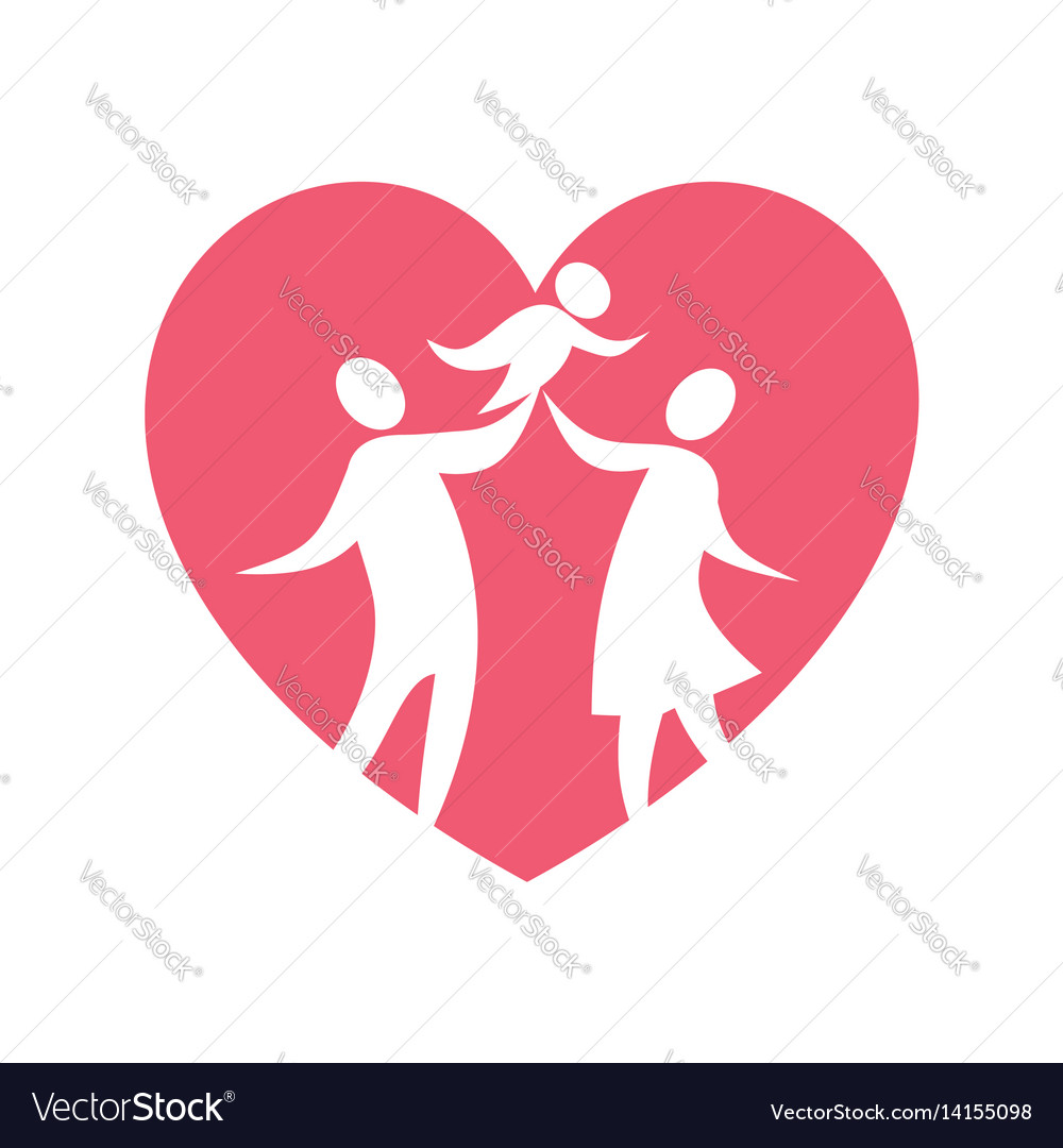 Happy christian family vector image
