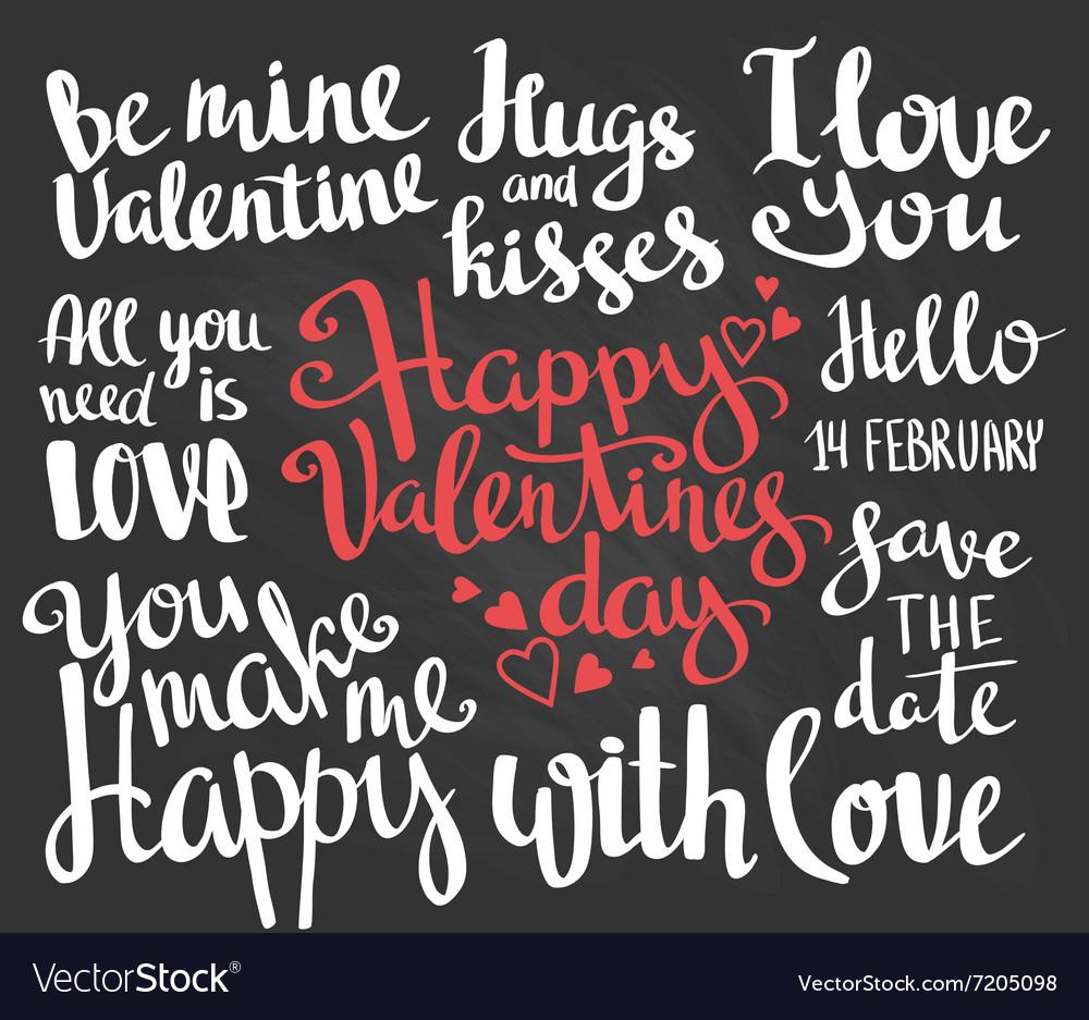 Valentines Day Set of Valentines stylish trendy
