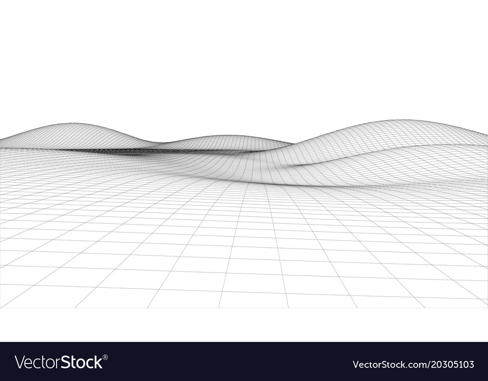 Abstract wire frame landscape background