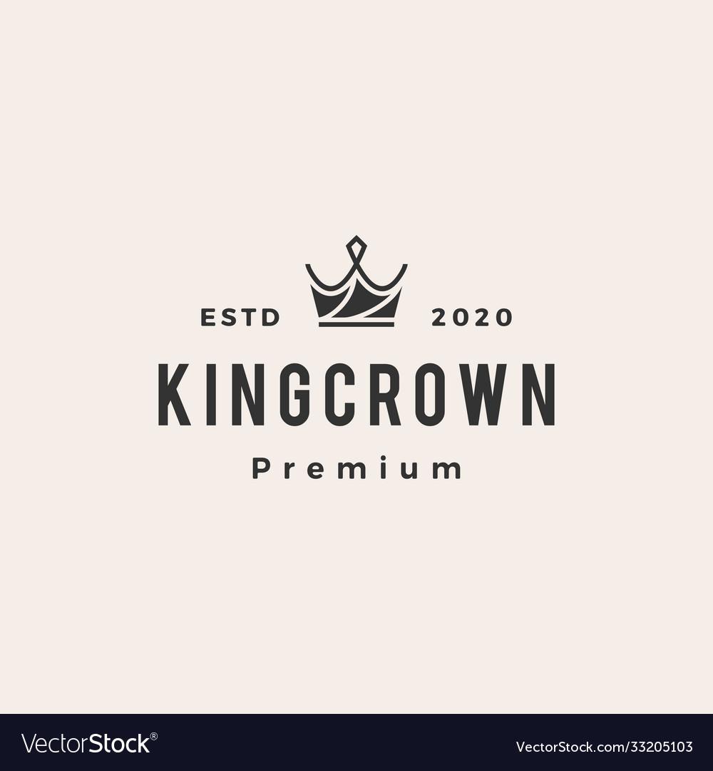 Crown hipster vintage logo icon