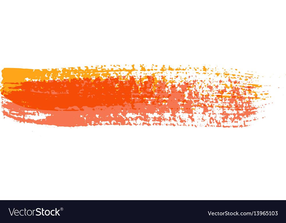 Grunge brush strokes colorful brush