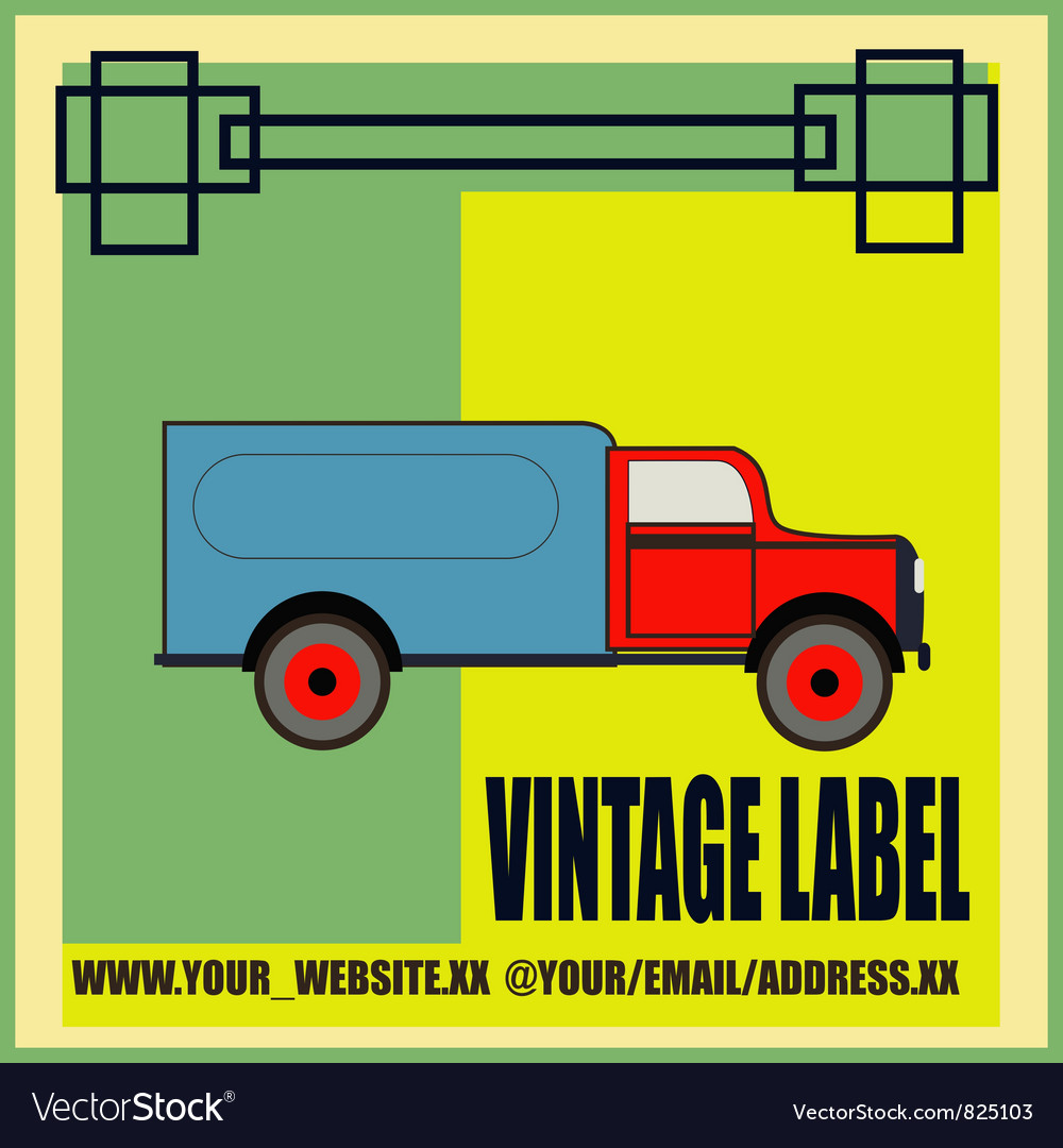 Retro Van Label
