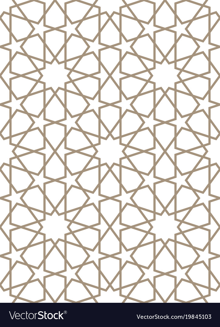 Seamless Pattern In Moroccan Style Royalty Free Vector Image