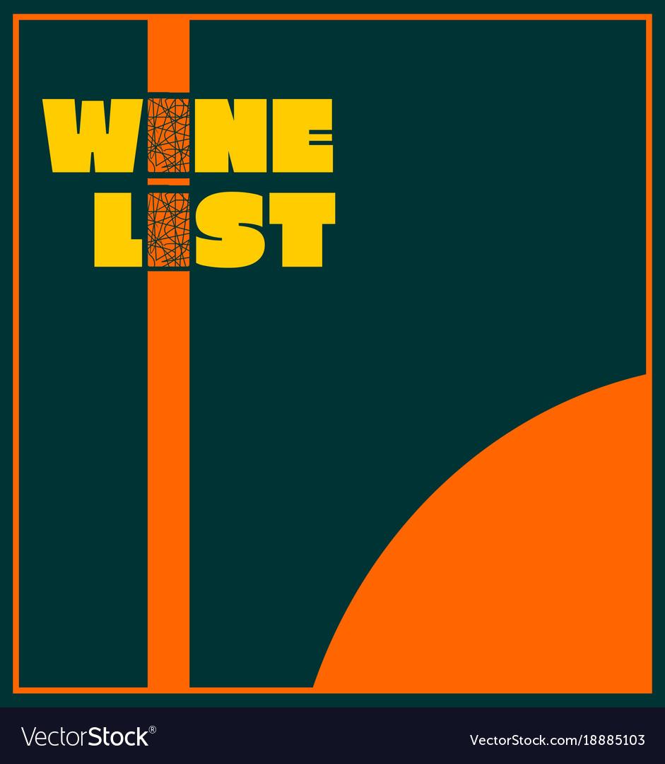 Template design for wine list