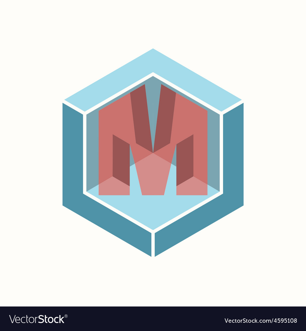 3D Letter M Logo Icon Design Template Element